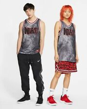 Nike Men'S Dri-Fit Dna Basketball Jersey Mesh Denim Black Bred Size Xl Brand New