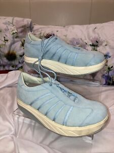 MBT WAVE TRAINERS BLUE SUEDE SNEAKERS WORK OUT GYM KEEP FIT WALKING Sz 5.5(38.5)