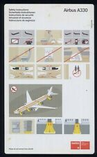 SWISSAIR swiss airlines Airbus A 330 airline SAFETY CARD ee e441
