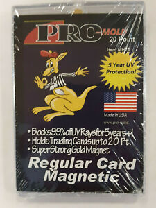 Pro Mold 20pt Gold Magnet Magnetic One Touch For Regular Standard Trading Cards