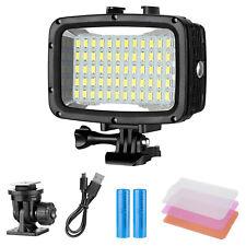 40m Underwater Lights Dive Light 60LED Dimmable LED Video Light for GoPro Hero