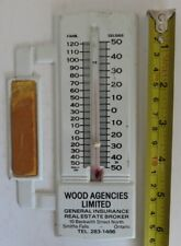 VINTAGE GENERAL INSURANCE ADVERTISING THERMOMETER                  (INV18000)