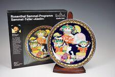 German Rosenthal Porcelain Aladin Wall Plate ~ Bjorn Wiinblad No: VI - MINT