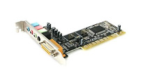 StarTech.com 4 Channel PCI Sound Card with AC97 3D Audio Effects Sound Cards PCI