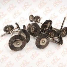 Lot of 10 Steel Wire Wheel Dia 25mm Brushes Wheel Set Dremel Accessory
