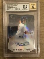 2014 Bowman Sterling Mookie Betts Refractor Rookie Auto 4/50 Bkt 8.5 Auto 10 !