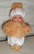 "Hand Knitted Clothes outfit for 5"" Berenguer Doll (#36)"