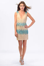 NWT $312 GORGEOUS ITALIAN Going Out Party Sequin Lace Dress SISTE'S Size S 8 10