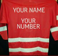 USSR CCCP Russian Hockey Replica Jersey XL embroidered customize any name number