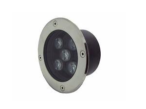 5W DC12v LED Inground Light Round Outdoor Garden Underground Lamp Warm White