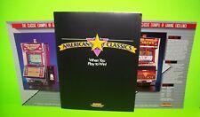 SMK American Classics Slot Machine Flyers Portfolio Keno Draw Poker Casino Games