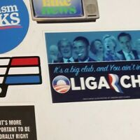 Jimmy Dore Inspired Oligarchy Political Bumper Sticker