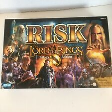 RISK LORD Of The Rings Trilogy Edition  GOLD RING Open Box-Complete Never Played