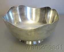 "Shreve Crump Low STERLING SILVER GOVERNOR WENTWORTH BOWL 7"" mustache footed 362g"