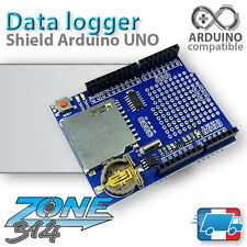 Carte d'extension Data Recorder Arduino UNO - RTC+SD Card (Shield Data Logging)