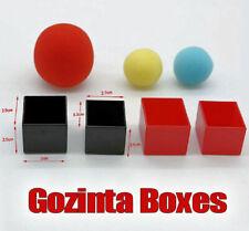 GOZINTA BOXES PARABOX RED BLUE YELLOW SPONGE BALL MAGIC TRICK BLACK BOX MYSTERY