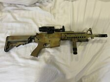Airsoft M4 G&G AEG rifle, Camo, with Red dot and Magnifier, Grip, 1x HiCap Mag