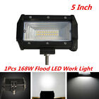 "5"" 168W Spot Flood LED Work Light Bar Off-Road Boat Fog Driving Light Waterproof"