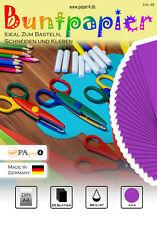 Buntpapier Bastelpapier DIN A4 25 Blatt 80 g/m²  Lila #1109