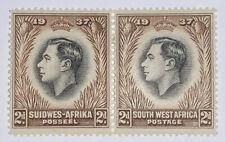 Travelstamps: 1937 South West Africa Stamps Scott # 128, 2d , Mint, Og, Hinged