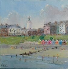Southwold-oil on canvas-original painting-seaside-holidays-beach-suffolk