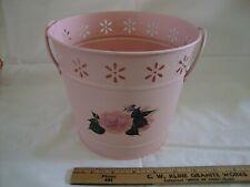 Pink Metal Bucket - Flower Pot Container