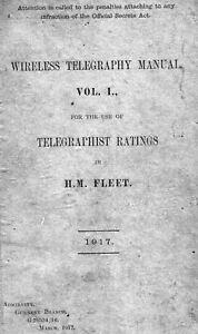 Wireless Telegraph Manual Vol. 1 - M. Fleet 1917 for British Telegraph Operator