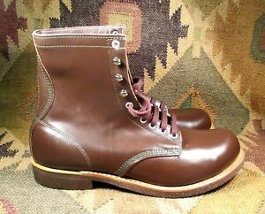 """Work n Sport Made in USA Cork Sole 8"""" Tall Brown Leather Chukka Boot 11.5 EE New"""