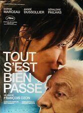 Affiche Cinéma TOUT S'EST BIEN PASSÉ 120x160cm Poster ROULÉ Sophie Marceau Ozon