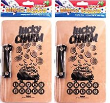 Lucky Charm Game Bingo Board Metal Clip Hanging Clasp 290 X 120mm Chipboard