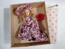 "Old 7"" Bisque STORYBOOK DOLL w Socks Pudgy Tummy & Nancy Ann 189 March BOX"