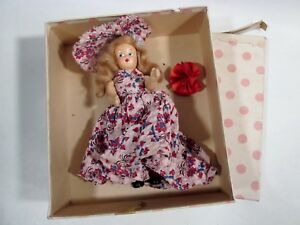 Old Composition STORYBOOK Style DOLL Socks Pudgy Tummy w Nancy Ann 189 March BOX