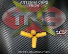 TRC1723 Yellow RC Antenna Tube Caps 4 Pack PVC R/C BOGO FREE