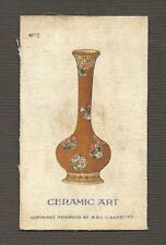 Vintage tobacco cigarette silk card c1925 - ceramic art #2