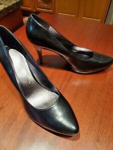 NEW Nine West Classic Black Leather Pumps High Heels Sz 12M