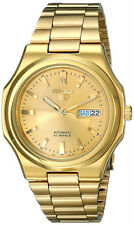 New Seiko 5 SNKK52 Automatic 21 Jewels Gold Tone Stainless Steel Men's Watch