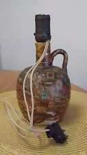 1930's Folk Art Possil 19 Glasgow Pottery Lamp uniquely cvrd in old cigar bands