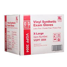 10boxes Basic Vinyl Synthetic Exam Gloves Powder Latex Free Size Xl