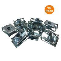 10 x M6 Fairing Bodywork Panel U Clips, Motorcycle / Bike U Nut Speed Fasteners