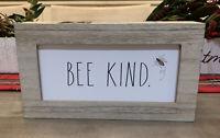 "Rae Dunn - BEE KIND - Wood Standup Sign - 9""L x 5""H x 2""D"