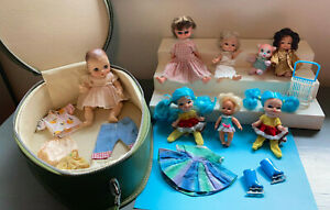 Effanbee Drink Wet Vtg 1964 Doll Lot Case Remco Finger Ding Hong Kong