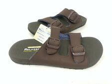 NEW! Skechers Men's PELEM ROLENTO Comfort Slide Sandals Chocolate #66042 160F z