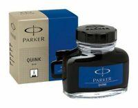 Parker Blue Quink Fountain Pen Ink Bottle 30 ml - Free Shipping Worldwide