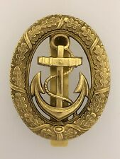 Vintage WWII German Kriegsmarine Navy Officer of the Watch Metal Badge w. slider