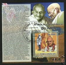 STAMPS OF GANDHIJI - S Tome - Block of 4
