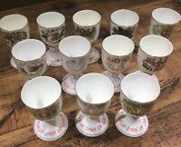 Royal Doulton 12 Days Of Christmas Goblets Very Rare Full Set Always Kept Boxed