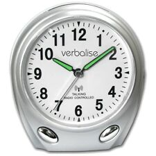 Verbalise Radio Controlled Talking Clock Silver, Blind and Partially Sighted,