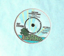 """CAT STEVENS - Another Saturday Night / Home in the Sk -7"""" Vinyl - 1974 - Island"""