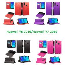 Huawei Teléfono Móvil Funda Cartera De Cuero Libro Cubierta Petaca Para Huawei Y6/Y7 2019