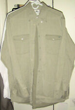 MENS LACOSTE DRESS SHIRT 42 L LARGE PERFECT LONG SLEEVE BUTTON UP SOLID GRAY